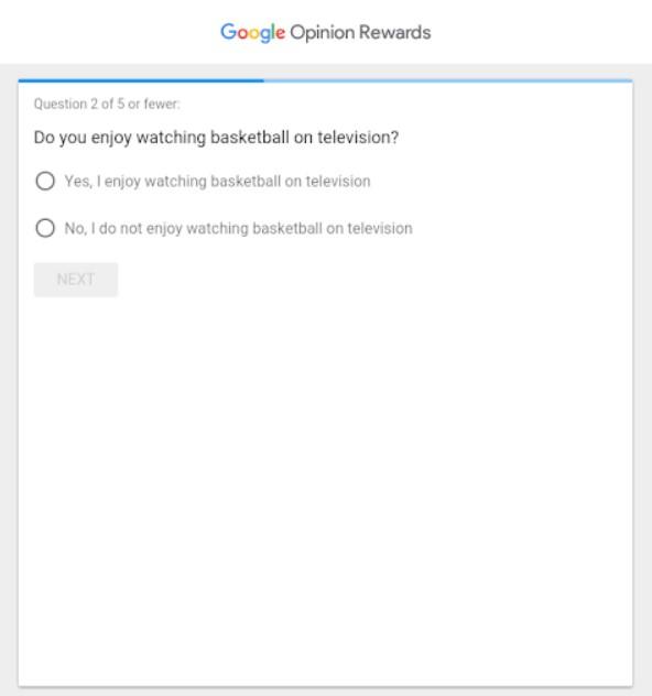 zarabianie na ankietach google przykładowe pytanie